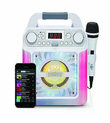 SML650W Bluetooth Karaoke Machine With Voice Changer And LED Lights White UK Sel