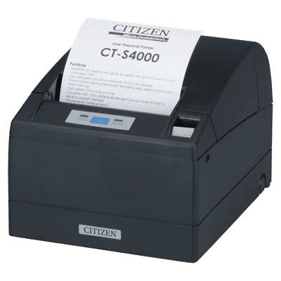 """CITIZEN CTS-4000 4"""" Thermal Printer USB Parallel interface Black"""