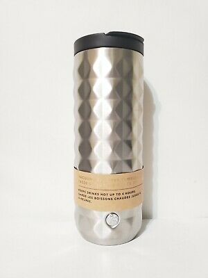 Starbucks Vacuum-insulated Silver Studded Stainless Steel Tumbler 16 oz