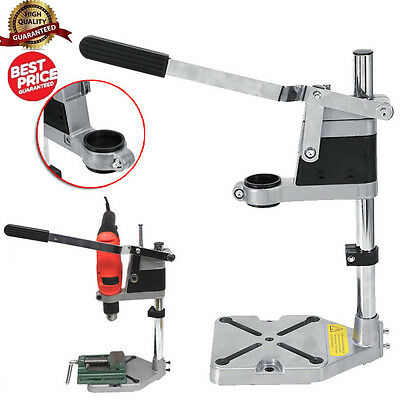 UK Electric Drill Holder Press Bench Stand Repair Workbench Pillar Clamp Collet