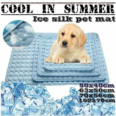 1pc Non-Toxic Pets Summer Cooling Chilly Mat Cool Pad Bed Dog Heat Relief Mat US