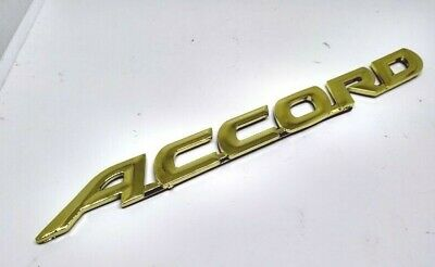 New Gold Emblem Accord Logo Rear Badge Trunk 98 99 00 01 02 w/ Adhesive