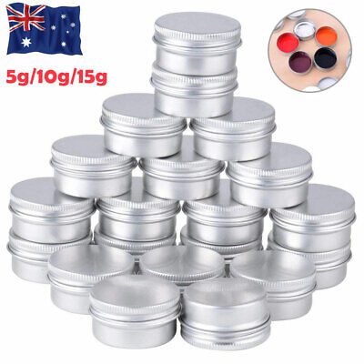 Aluminum Round Storage Box Can Jar Tin Box Candles Spices Balms Sample Container