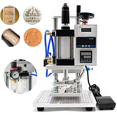 Air Operated Hot Foil Stamping Machine for PVC Card Leather PU Wood Embossing