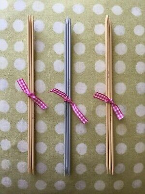 230 MM 2.75mm 4 DOUBLE POINTED Vintage METAL ACE KNITTING SOCK NEEDLES UK 12