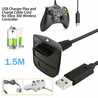 USB Charge Cable for Xbox 360 Wireless Controller Gamepad Charger charging Cable