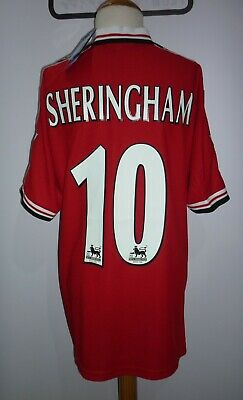 Sheringham -Manchester United 1998/99 Home Shirt - Size Medium - Retro - Bnwt