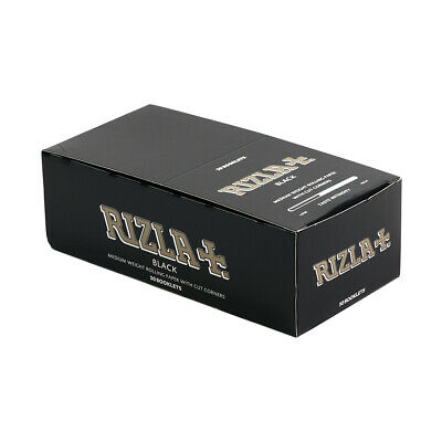 Rizla Black Cut Corners Cigarette Rolling Paper Full Box 50 Booklets