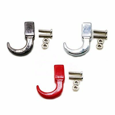 Metal Front Bolt On Tow Winch Red Hooks fit Traxxas Axial RC 1:10 Crawler RC Car