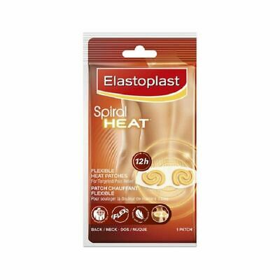 Elastoplast Spiral Heat Flexible Heat Patch pour le dos et le cou - 1 Patch