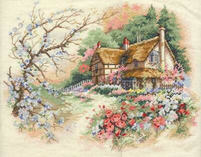 "DIMENSIONS""COTTAGE ENCHANTMENT"" CROSS STITCH KIT Kreuzstich-Stickpackung"