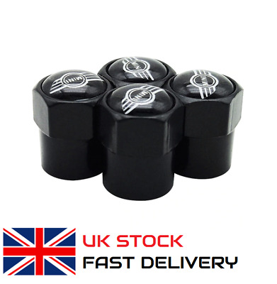 4 x Tyre Wheel Valve Caps For All BMW Mini Cars Cooper Countryman Clubman ONE UK