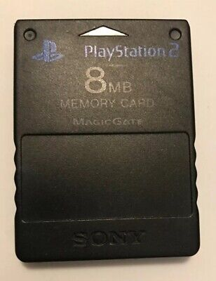 Official Genuine OEM Sony PlayStation 2 PS2 Memory Card Black 8MB