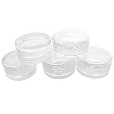 5ml 10 Pieces Clear Empty Plastic Cosmetic Storage Sample Containers Jars Pots