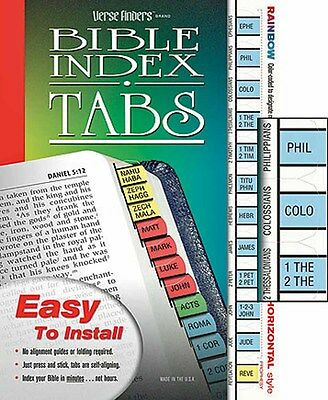 Bible Index Tabs Rainbow Colored New - Easy To Read - Horizontal Sku Lt345