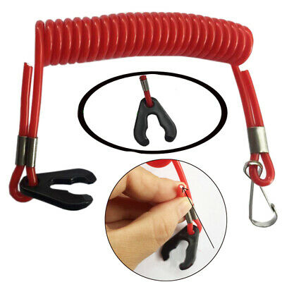 1pc Outboard Boat Motor Kill Stop Switch Safety Keys Tether Lanyard Safety Rope