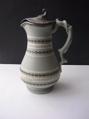 Victorian Mosaic Lidded Jug By James Dudson
