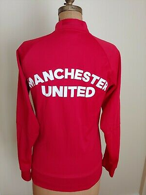 Manchester United Adidas Mens Warm Up Track Top Training Jacket Adult Small