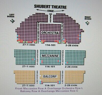 2 Tickets To Kill a Mockingbird Shubert Theatre Saturday Nov. 9, 2019 Orchestra