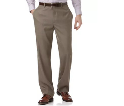 Collection by Michael Strahan Taupe Flat-Front Suit Pants - Classic Fit 29Wx30L