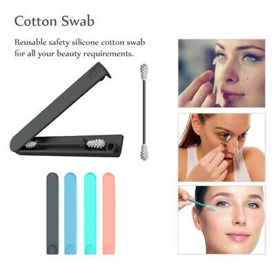 CA Reusable cotton swab Cleaning Cosmetic Good Cotton ears silicone sticks