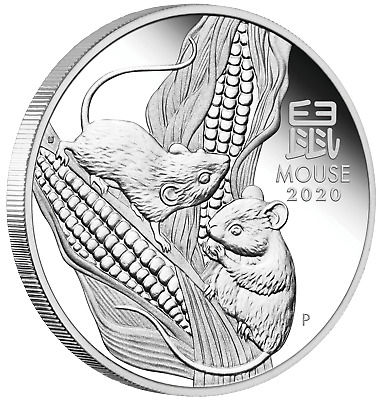 2020 Australia PROOF Lunar Year of the Mouse 1oz Silver $1 Coin SERIES III FR