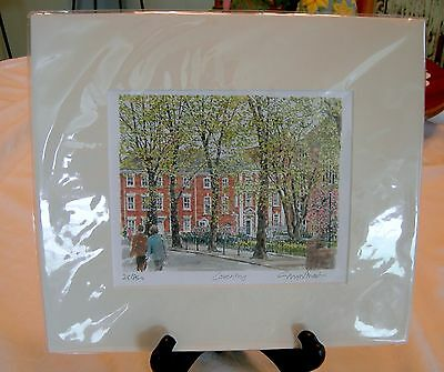 """Felicia By Leo Jansen Limited Edition Lithograph Print Approx 25/"""" X 19/"""""""