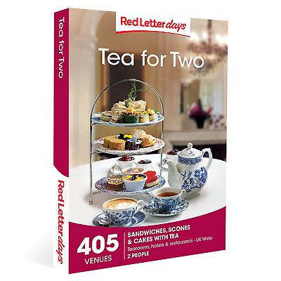 Red Letter Days Tea for Two Gift Voucher – 405 delightful afternoon tea
