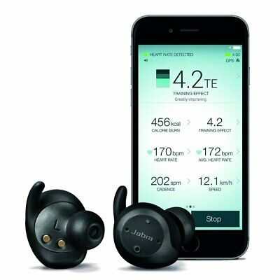 Jabra Elite Sport In-Ear True Wireless Bluetooth Earbuds with Heart Rate and Act