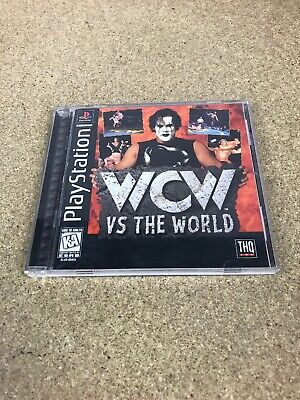 WCW VS  WORLD PS1 Sony PlayStation 1 wwf wwe Game Wrestling