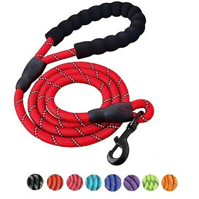 Dog Training Lead Leash with Padded Handle Reflective Heavy Duty for Large Dogs