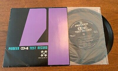 Pioneer CD-4 Test Record Quadrophonic 4 Channel Stereo 45RPM PQX 1011 No Damage