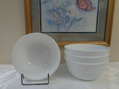 NEW ~ Lot of 4 ~ CORELLE WINTER FROST WHITE 28 oz Super Chili/Soup/Cereal Bowls