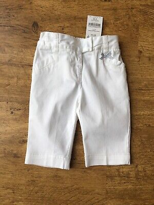 Next ~ Baby Girls White Cropped Trousers Pants  ~ Age 18-24 Months ~ New