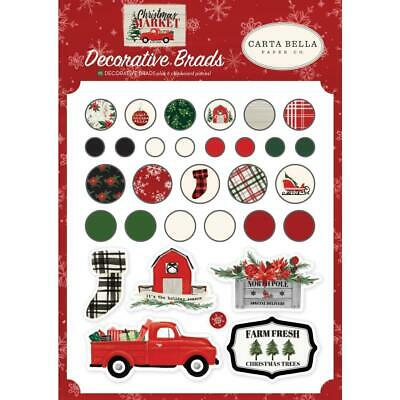 NEW Carta Bella - Decorative Brads - Christmas Market