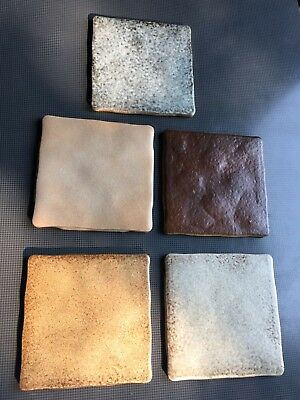 Vintage SEMIGRES Set Of 5 Terra-cotta TILES MADE IN ITALY 🇮🇹