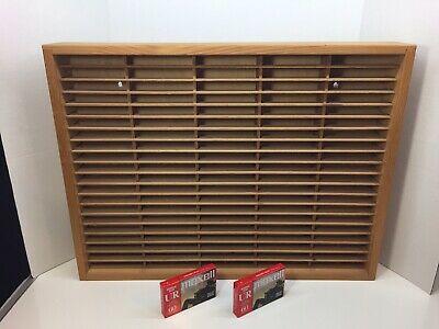 Napa Valley Box Company 100 Slot Wood Wooden Cassette Tape Storage Rack w/Tapes