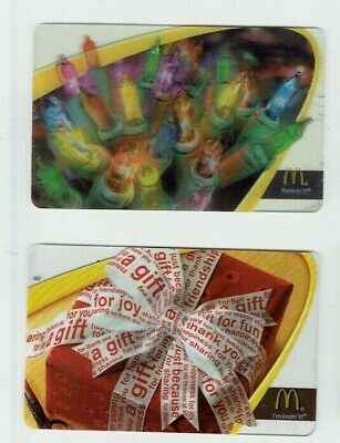 McDONALD'S Gift Cards / Arch - Older Christmas - Collectible No Value - LOT of 2