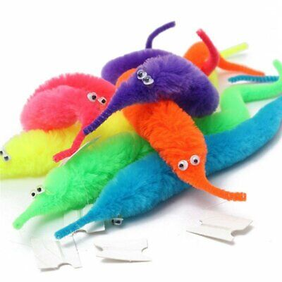 SUPER MAGIC WORMS USA ~ Toy 5 / 10 / 20 / 40 Pcs Twisty Fuzzy Wiggle Bait Favor