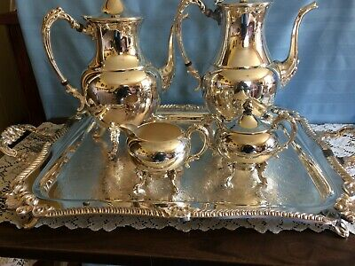 Sheridan silver on copper Tea / coffee set 6 pc excell. cond.