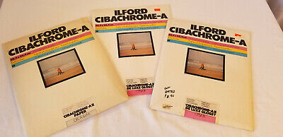 Vintage Ilford Cibachrome-A 8x10 Photographic Paper Glossy Pearl 30 Sheets Total