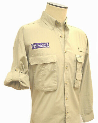 70289L 24th WORLD SCOUT JAMBOREE 2019 - CAMP SHIRT - KHAKI - ADULT LARGE - NEW!