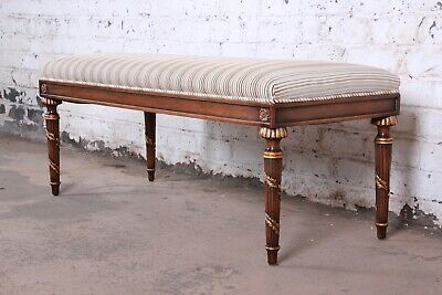 Karges Louis XVI Style Upholstered Window Bench