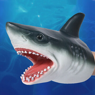 BEST Shark Hand Puppet Soft Kids Toy Gift Great For jaws Decoration Topper N6U1
