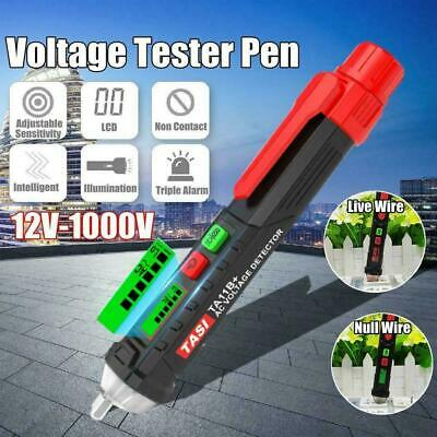 12-1000V AC/DC Non-Contact LCD Electric Test Pen Voltage Detector Digital T U3M3