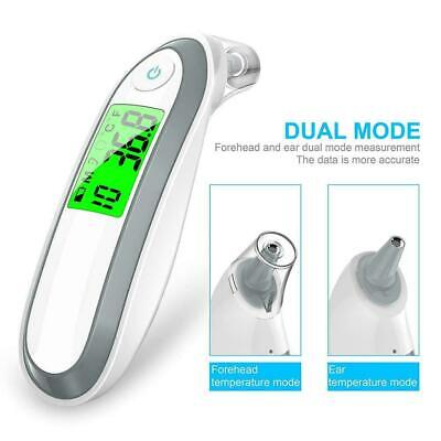 Digital LCD Ear Thermometer Medical Baby Adult Safe Temperature Oral Case V07