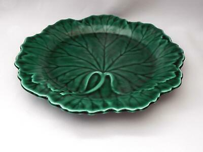 Vintage WEDGWOOD - MAJOLICA *Cabbage Leaf* Plate - Excellent Condition
