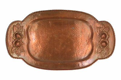 An Arts & Crafts copper tray Rose design 50 cm
