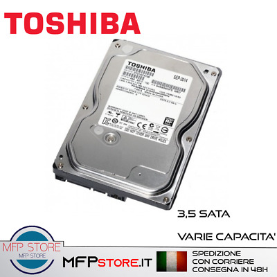 Hard Disk Sata 3,5 Toshiba Nuovi 500Gb 1Tb 1000Gb Per Desktop Pc Interni