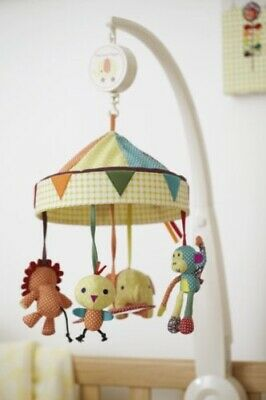 Mamas & Papas Musical Jamboree Cot Mobile With Wind Up Chime Music